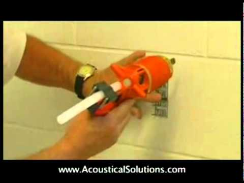 Acoustical Wall Panel Installation using Impaling Clips and hot glue