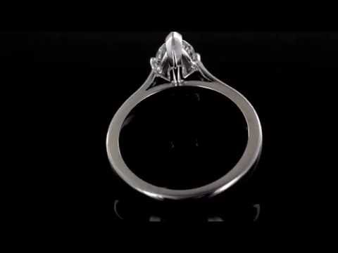 Browns Family Jewellers Marquise Cut Diamond Solitaire Ring