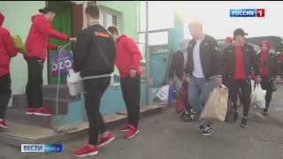 Омские хоккеисты посетили муниципальный приют для животных