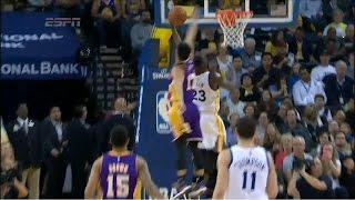 Jeremy Lin Amazing block to Draymond Green   Lakers vs Warriors   March 16, 2015   NBA