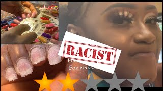 I WENT TO THE WORST REVIEWED NAILS SALON IN MY CITY #worstnails #racist