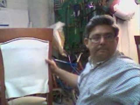Tapizando respaldo de silla youtube - Tapizar una silla ...