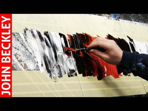 Abstract Painting Demonstration EASY With Masking Tape | Circellus