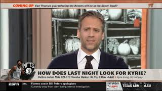 Max Kellerman EXCITED How does last night look for Kyrie?   FIRST TAKE