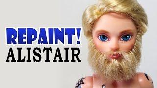 Repaint! Alistair Wonderland Custom Male Doll with Beard OOAK