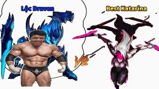 Lộc Draven đối đầu Best Katarina từng Top 10 Thách đấu Việt  đánh cực gắt !