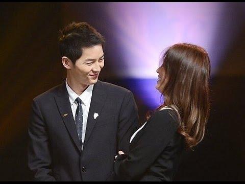 Song Joong Ki & Song Hye Kyo Sweet Moments HD VID @ Korea Popular Culture & Arts Awards