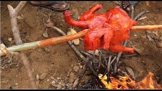 Grill chicken roast (Full chicken) prepared in my village