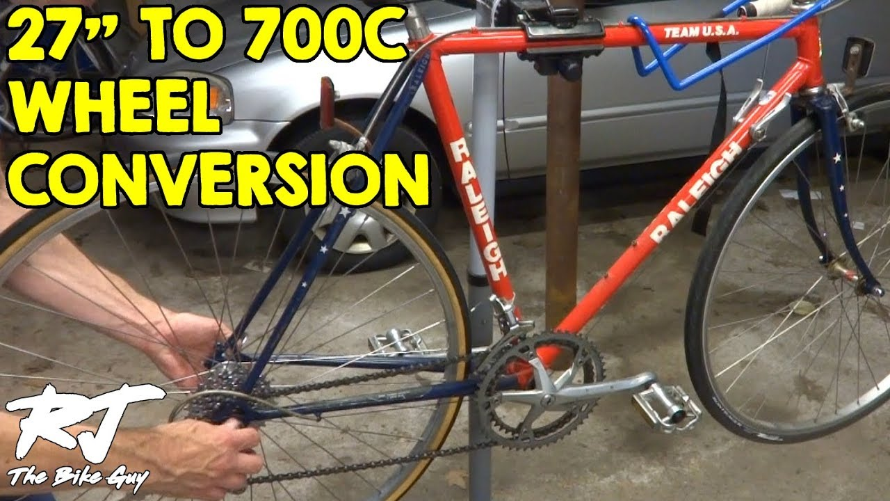 How To Do 27 Inch To 700c Wheel Conversion Vintage Bike