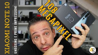 108 MEGAPIXEL! Unboxing XIAOMI NOTE 10 specifiche prezzo prime impressioni