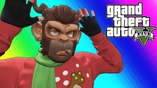 GTA 5 Online Funny Moments - EPIC Snowball Fights!