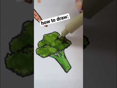 How to Draw Veggies (easy & quick doodle tutorial!) #shorts