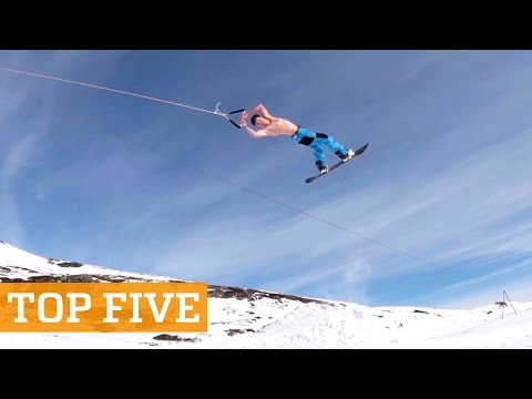 TOP FIVE: Summer Skiing, Wheelie Tricks & Freerunning | PEOPLE ARE AWESOME 2016 Poster