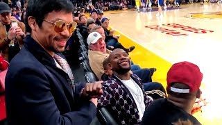 Manny Pacquiao & Floyd Mayweather met again tonight at Staples Center