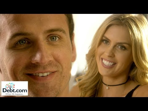 Debt.com's commercial featuring Ryan Lochte and fiance Kayla Rae Reid on screen together for the first time! The commercial takes place in an HR department meeting between Lochte and Reid. Lochte scolds Reid's character for violating company dress code. What happens next is titillating!