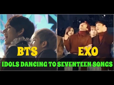 🎵Kpop idols singing and dancing to Seventeen's songs part 5 ♡
