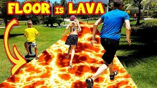 THE FLOOR is LAVA in HOTEL