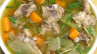 Pork Rib Soup Easy Recipe || Homemade Food Cambodia Style || Asian Food Cooking