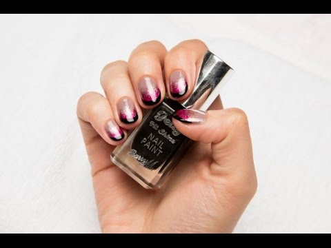 Barry M Ombre Nights Nail Art Tutorial