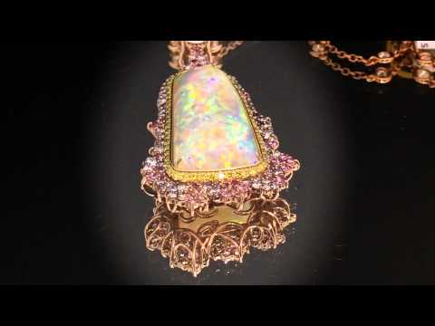 One of a Kind Necklace with 8 Mile Coober Pedy Opal