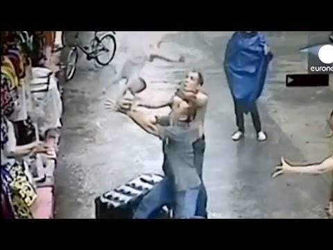 Hero Catches Falling Baby From Second Story