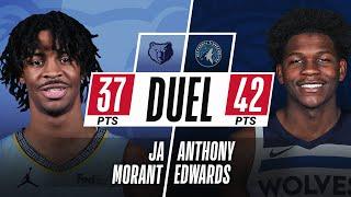 Ja Morant 💥 & Anthony Edwards 🐜 DUEL in Minnesota! 🔥