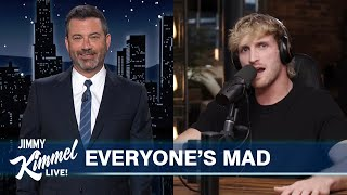 Logan Paul Fires Back at Jimmy Kimmel & Fox News Digs In Over Nicki Minaj Swollen Ball Drama