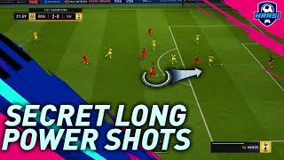 FIFA 19 SECRET LONG POWER SHOTS YOU DIDN'T KNOW ABOUT! HOW TO TAKE POWER SHOTS FROM DISTANCE!