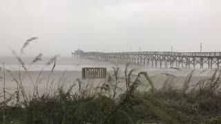 Hurricane Florence Friday first look in North Myrtle Beach