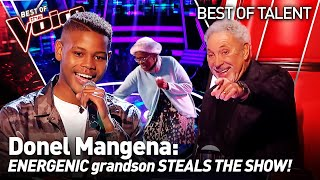 16-Year-Old OWNS the show with his GRANDMA in The Voice