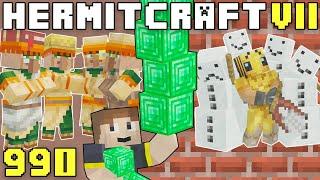 Hermitcraft VII 990 Villagers, Emeralds & Derpfaces!