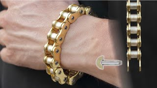 This is how you can make a motorcycle chain as a bracelet.   (cadena de moto para pulsera)