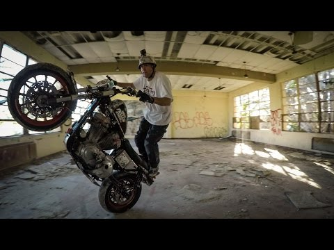 GoPro : Sportster Stunting at an Abandoned Military Barracks