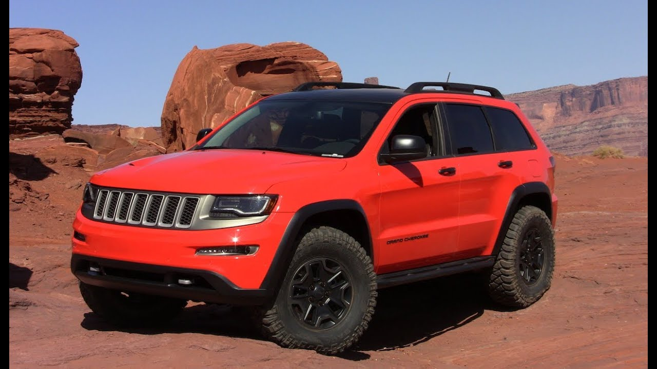 Lifted Jeep Wrangler >> Jeep Grand Cherokee TrailHawk II Concept Revealed - YouTube