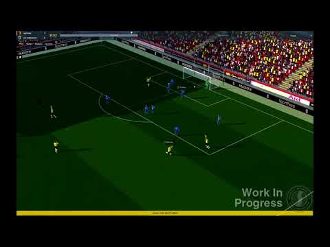 FM18 - First Match Engine Footage from Football Manager 2018