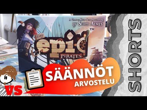 Onko piraattipelin säännöt hyvät?   ANTON VS TINY EPIC PIRATES -LAUTAPELI #SHORTS