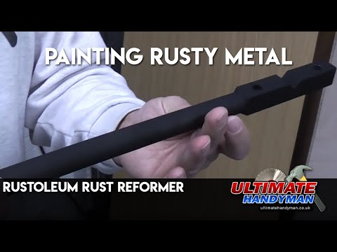Rustoleum Paint Job >> Painting rusty metal | Rustoleum Rust Reformer - YouTube