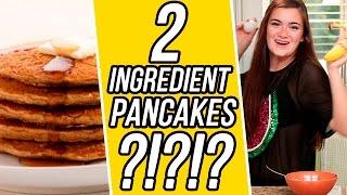CloeCouture's 2 Ingredient Banana Pancakes! | 3 Items Or Less