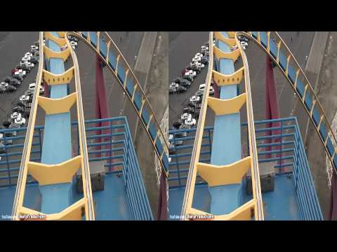 Scream (3D On-Ride) Six Flags Magic Mountain