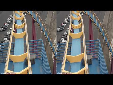 Scream (3D On-Ride) Six Flags Magic Mountain