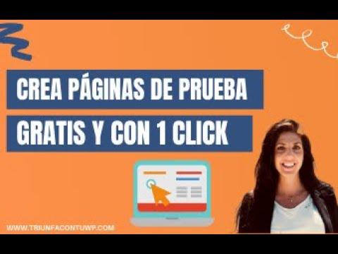 ➤ CREA PÁGINAS WEB 🌐 DE PRUEBA GRATIS Y CON UN CLICK ✅