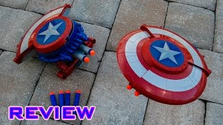 [REVIEW] Nerf Captain America Blaster Reveal Shield Unboxing, Review, & Firing Test