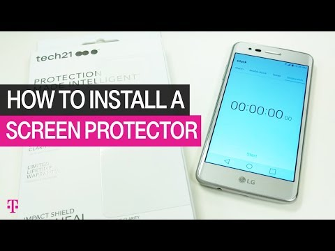 T-Mobile | How to Install a Screen Protector Really Fast | Product Help & How To