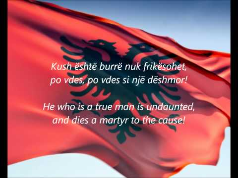 Albanian National Anthem - ''Hymni I Flamurit'' (SQ/EN)