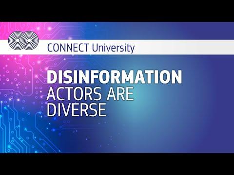 CONNECT University Disinformation actors are diverse photo