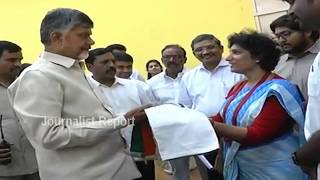 Sangeetha Sridhar Met AP CM Chandrababu Naidu Discuss on Bharth Yatra at Prajavedika