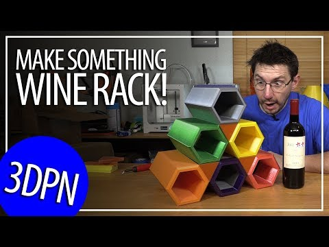 3D Printing a Wine Rack Using 9 Different 3D Printers - Inspired by the Make Something Video!