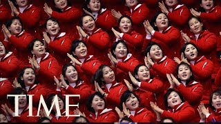 What To Know About North Korea's Olympic Cheerleaders: The 'Army Of Beauties' | TIME