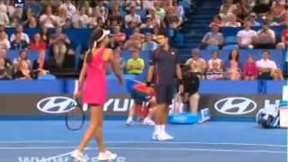 Novak Djokovic impression Ana Ivanovic and dancing Gangnam Style