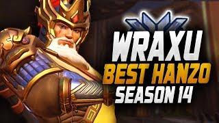 WRAXU BEST HANZO IN THE WORLD! 36 ELIMS! [ OVERWATCH SEASON 14 TOP 500 ]
